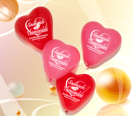 Hearting Balloons in Tamil Nadu